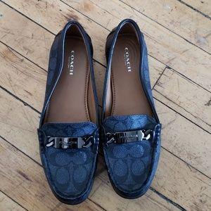 Coach black signature 7.5 loafer